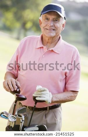 Portrait Of A Male Golfer - stock photo