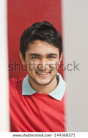 Portrait of a man smiling - stock photo