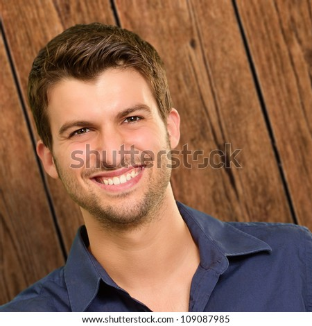 Portrait of a man smiling, indoor - stock photo