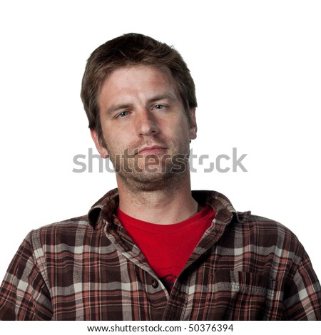 portrait of a man with a lazy eye - stock photo