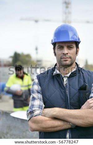 Portrait of a man with safety helmet