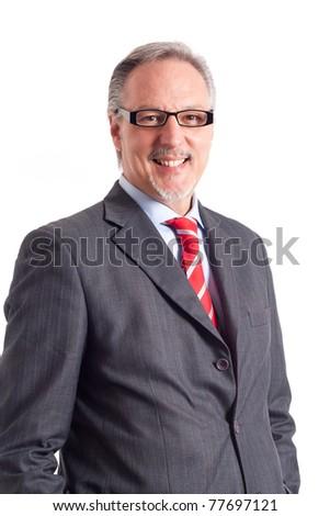 Portrait of a mature handsome businessman. - stock photo