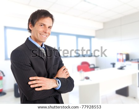 Portrait of a mature handsome businessman - stock photo