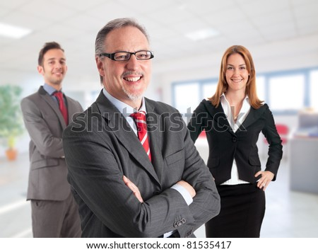 Portrait of a mature handsome businessman. - stock photo