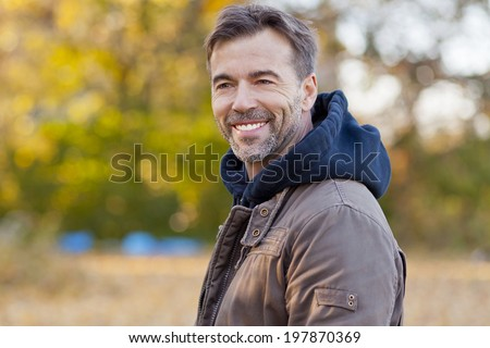 Portrait Of A Mature Man - stock photo