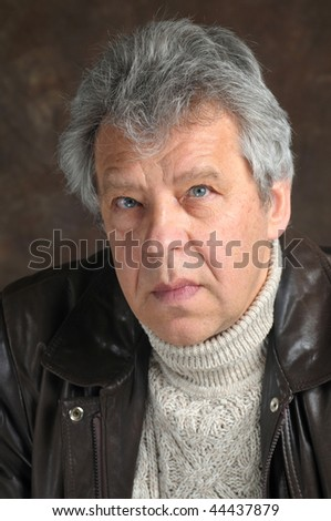 Portrait of a mature man - stock photo