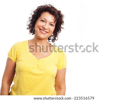 portrait of a mature woman confident smiling - stock photo