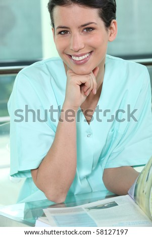 Portrait of a medical assistant