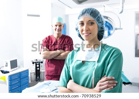 Portrait of a medical team inside operating room
