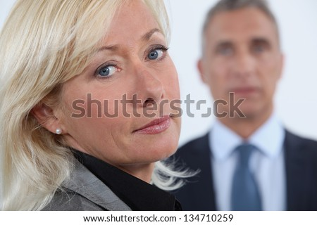 Portrait of a middle-aged woman - stock photo