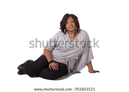 Portrait of a middle aged woman isolated on white