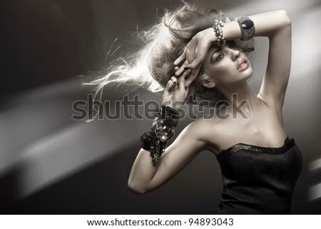 Portrait of a modern woman - stock photo