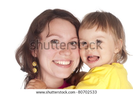 portrait of a mom with her daughter