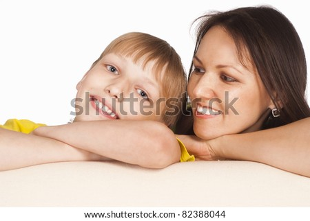 portrait of a mom with her son