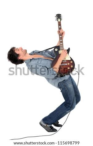 portrait of a musician - stock photo