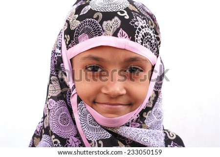 Portrait of a Muslim girl - stock photo