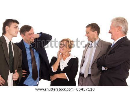 portrait of a nice team on a white - stock photo