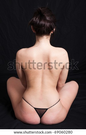 portrait of a nude woman - stock photo