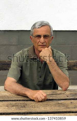 Portrait of a pensioner