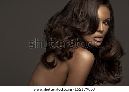 Portrait of a perfect female beauty - stock photo