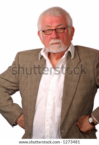 Portrait of a pissed off man - stock photo