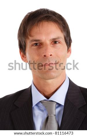 Portrait of a positive businessman - stock photo