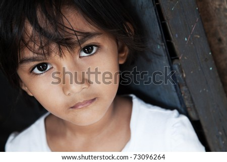 Portrait of a pretty Asian girl - Manila, Philippines - natural light - stock photo