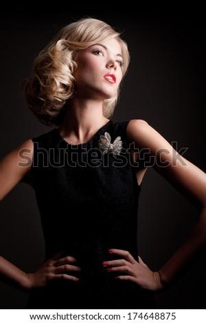 Portrait of a pretty fashion girl - stock photo
