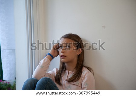 Portrait of a pretty girl - stock photo
