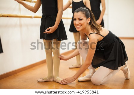 Ballet instructor helps her student with extra credit 9