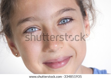 Portrait of a pretty young girl - stock photo