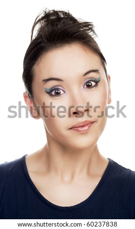 Portrait of a pretty young woman looking confused - stock photo