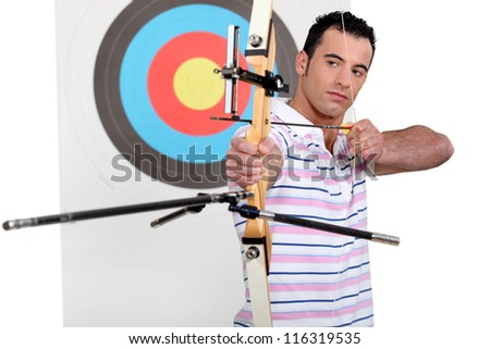 Portrait of a professional archer