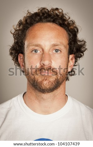 Portrait of a real spanish man. - stock photo