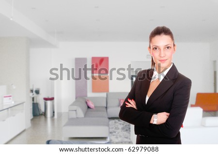 Portrait of a saleswoman in the furniture store