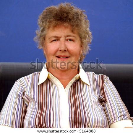 Portrait  of a senior businesswoman confident and successful - stock photo