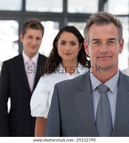 Portrait of a senior confident business leader - stock photo