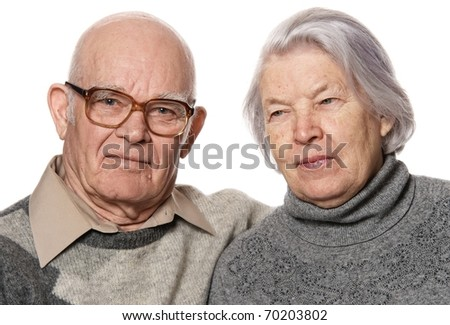 Portrait of a senior couple - stock photo