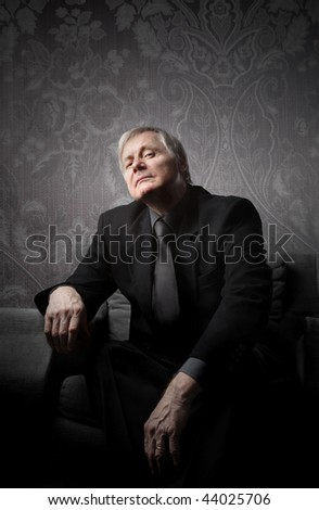 portrait of a senior man - stock photo