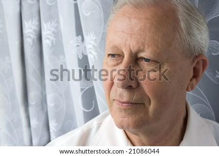 portrait of a senior person - stock photo