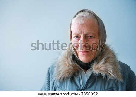 Portrait of a senior woman contemplating. - stock photo