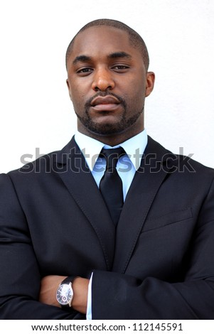 Portrait of a Serious and Attractive, Young Professional African American Businessman - stock photo
