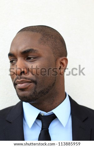 Portrait of a Serious and Attractive, Young Professional African American Businessman