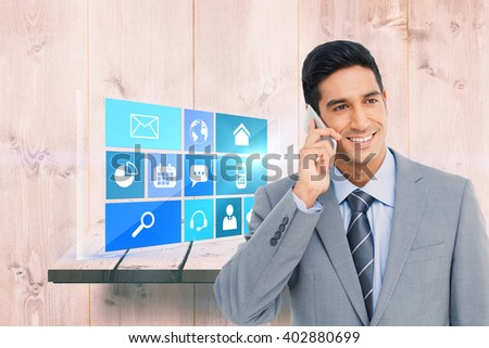 Portrait of a serious businesswoman pointing at the viewer against wooden shelf - stock photo