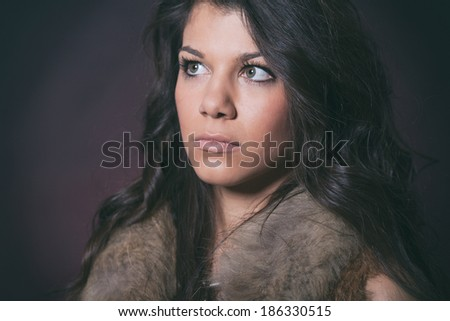 Portrait of a serious looking woman