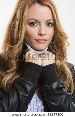 portrait of a sexy blonde woman - stock photo