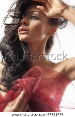 Portrait of a sexy bride - stock photo