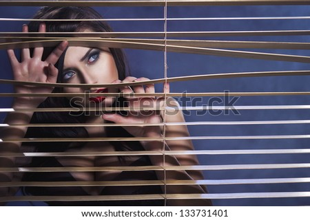 Portrait of a sexy woman - stock photo
