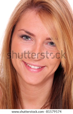 Portrait of a sexy woman isolated on white background