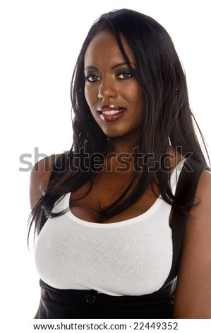 Portrait of a sexy young African American woman
